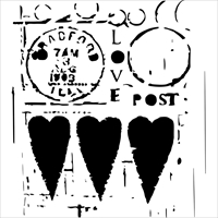 Εικόνα του Crafter's Workshop Template 15x15 - Love Post