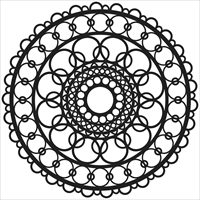 Picture of Stencil 6x6 - Ring Doily