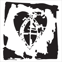 Picture of Stencil 4x4 - Crusader's Heart