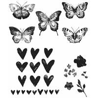 Picture of Tim Holtz Cling Rubber Stamp Set - Watercolor
