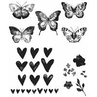 Εικόνα του Tim Holtz Cling Rubber Stamp Set - Watercolor