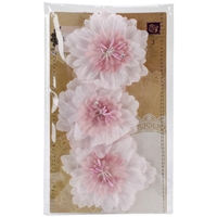 "Picture of Lyric Fabric Flowers 3"" 3/Pkg"