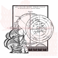 """Picture of Woodware Clear Stamps 3.5""""X3.5"""" Sheet - Ship & Compass"""