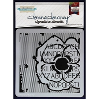 Picture of Donna Downey Signature Stencils - Poppy Collage