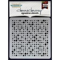 Εικόνα του Donna Downey Signature Stencils - Grunge Halftone Dots
