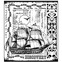 Picture of Crafty Individuals Unmounted Rubber Stamp - Voyage of Discovery