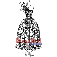 Εικόνα του Σφραγιδα Rubber Deep Red - Dress Form Floral Corsage