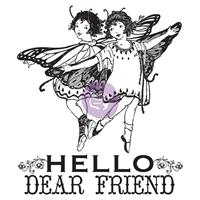 Εικόνα του Σετ Σφραγιδων Clear Princess - Hello Dear Friend