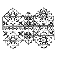 Εικόνα του Wendy Vecchi Cling Rubber Stamp - Vintage Lace