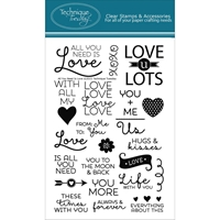 Picture of Technique Tuesday Clear Stamps - All You Need Is Love