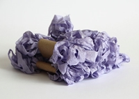 Εικόνα του Shabby Crinkled Seam Binding Ribbon - Lilac