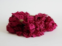 Picture of Shabby Crinkled Seam Binding Ribbon - Rasberry