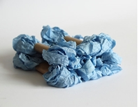 Εικόνα του Shabby Crinkled Seam Binding Ribbon - Baby Blue