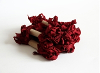 Εικόνα του Shabby Crinkled Seam Binding Ribbon - Wine