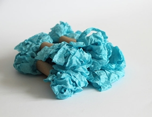 Picture of Shabby Crinkled Seam Binding Ribbon - Peacock Blue