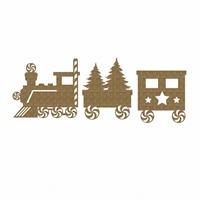 Εικόνα του Chipboard - Christmas Train