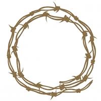 Εικόνα του Chipboard - Barbed Wire Frame