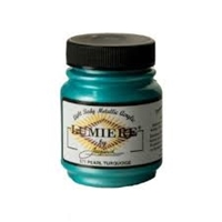 Εικόνα του Lumiere Metallic Acrylic Paint 2.25oz - Pearlescent Turquoise