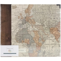 "Εικόνα του Project Life Printed Chipboard D-Ring Album 12""X12"" Travel"