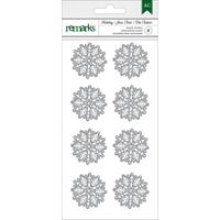 Εικόνα του Holiday Remarks Glitter Stickers - Silver Snowflakes