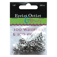 "Picture of Eyelets & Washers - Anodised Metal 1/8""inch"
