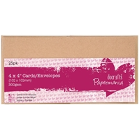 Picture of Papermania Square Cards/Envelopes: Kraft