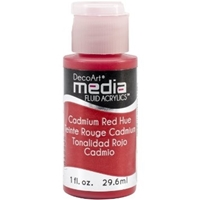 Εικόνα του Ακρυλικά DecoArt Media Fluid Acrylics - Cadmium Red Hue