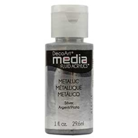 Εικόνα του Ακρυλικά DecoArt Media Fluid Acrylics - Metallic Silver