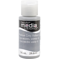 Εικόνα του Ακρυλικά DecoArt Media Fluid Acrylics - Medium Gray Value 6