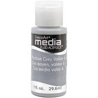 Εικόνα του Ακρυλικά DecoArt Media Fluid Acrylics - Medium Gray Value 6
