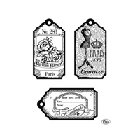 Picture of Silicon Stamp Set - Tags Paris