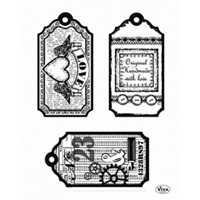 Picture of Silicon Stamp Set - Tags Love