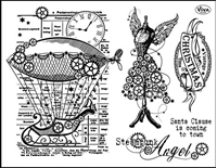 Picture of Silicon Stamp Set - Steampunk Angel
