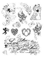 Picture of Silicon Stamp Set - Love