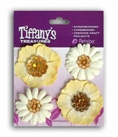 Picture of Flower Charms - Topaz Gold
