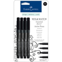 Picture of Faber-Castell Mix & Match PITT Artist Pens - Assorted Journaling Black