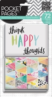 Εικόνα του Pocket Pages Themed Cards  72/Pkg -  Think Happy Thoughts