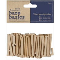 Picture of Papermania Bare Basics Wooden Alphabet