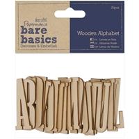 Εικόνα του Papermania Bare Basics Wooden Alphabet - Ξύλινα γράμματα