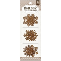 Picture of BoBunny Essentials Laser - Cut Chipboard - Snowflakes