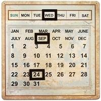 Εικόνα του Salvaged Metal Calendar