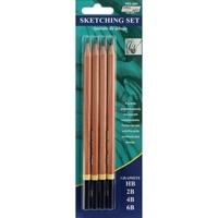 Εικόνα του Pro Art Sketching Pencils 4/Pkg - Μολύβια Σχεδίου
