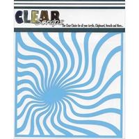 Εικόνα του Clear Scraps Stencil  - Groovy Spiral