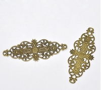 Εικόνα του Filigree Flower Embellishments II - Bronze