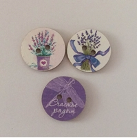 Picture of Wooden Buttons - Dragonfly