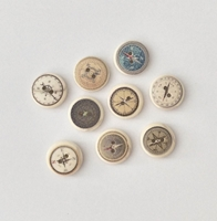 Picture of Wooden Buttons - Compass