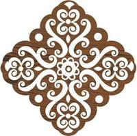 Εικόνα του Fabric Creations Block Printing Stamps - Medium Baroque Medallion