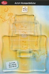 Picture of Σετ από 3 ακρυλικές βάσεις για σφραγίδες - Acrylic Stamp Blocks