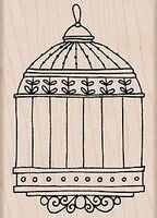 Picture of Birdcage - Wood Mounted Stamps