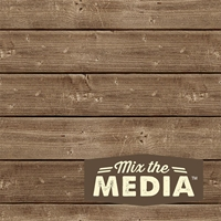 Εικόνα του Mix The Media Wooden Plank Plaque 15X15